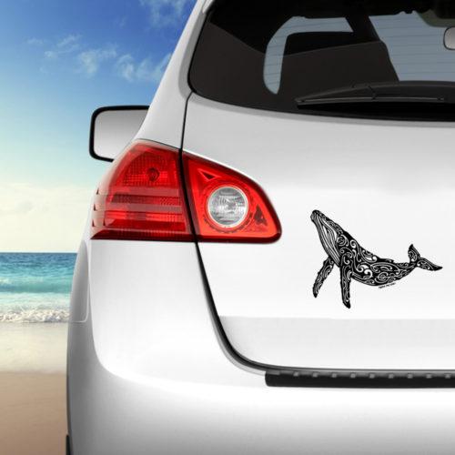 stikers autocolant de baleine a bosse transparent pour carosserie de voiture