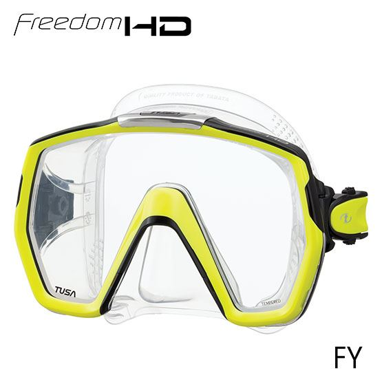 masque freedom HD jaune