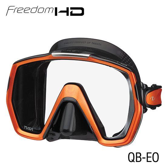 masque freedom HD noir/orange