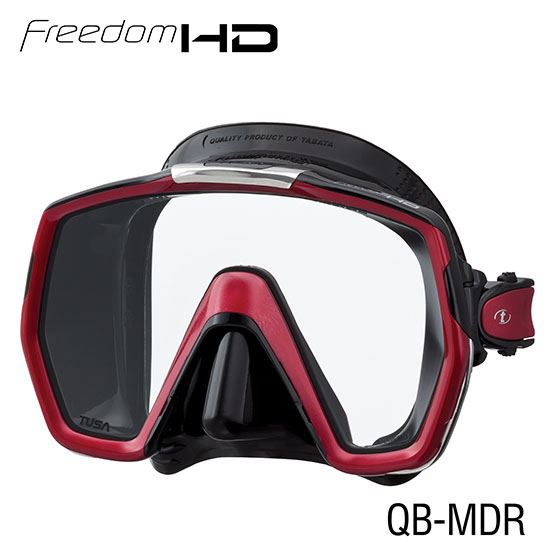 masque freedom HD noir/rouge