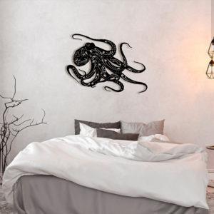 """Décoration murale acier """"Pieuvre"""""""