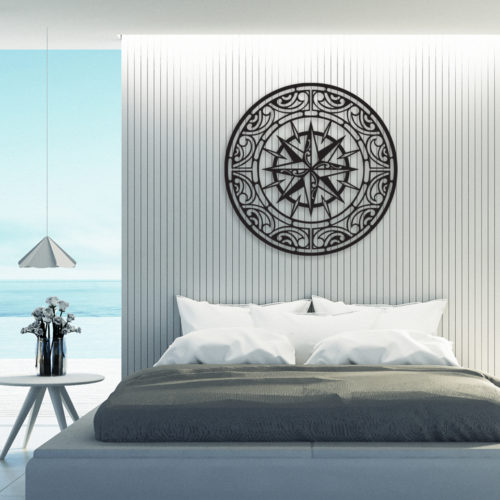 """Décoration murale acier """"La Rose des Vents"""""""