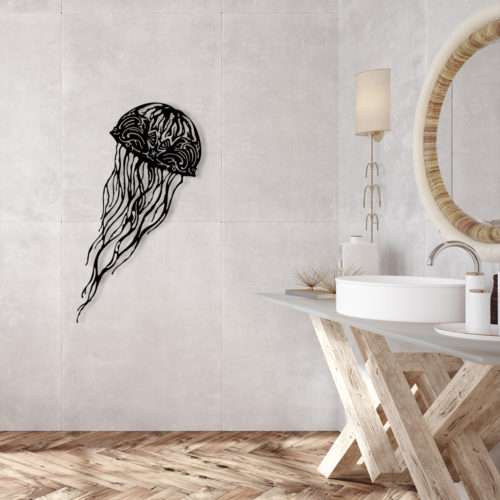 """Décoration murale acier """"Méduse"""""""
