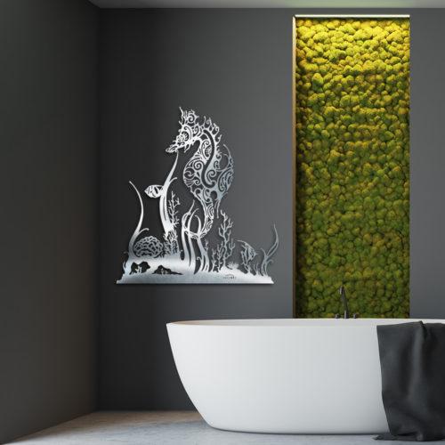 """Décoration murale """"Hippocampe & Coraux"""""""