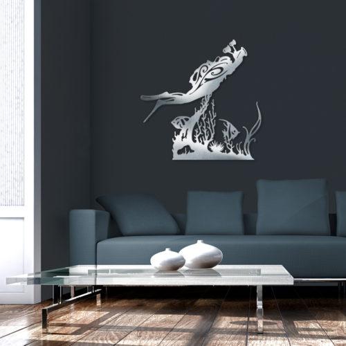 """Décoration murale """"Plongeur Photographe & Coraux"""""""
