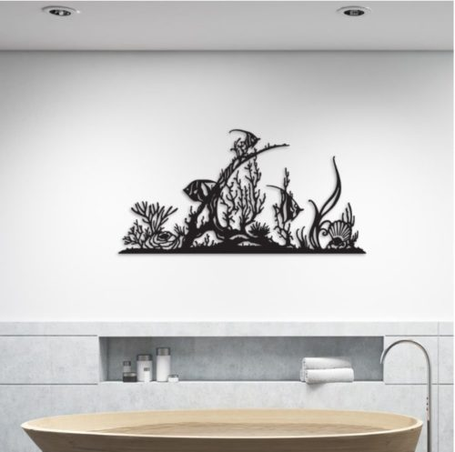 """Décoration murale """"Poissons & coraux"""""""