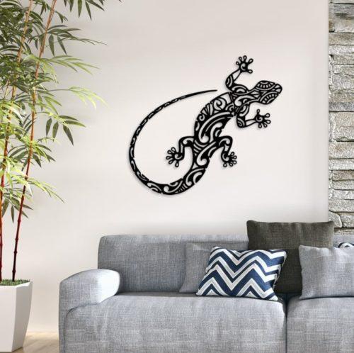 """Décoration murale acier """"Salamandre"""""""