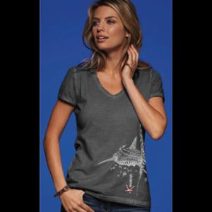 t-Shirt kanumera requin baleine gris